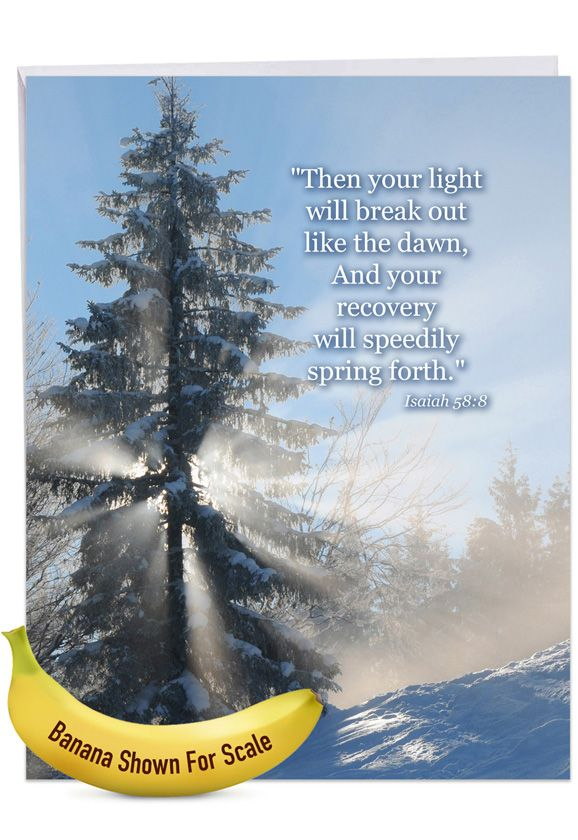 Winter Sunrise - Isaiah 58:8: Stylish Get Well Over-sized Paper Greeting Card