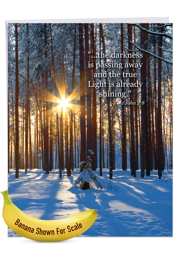 Winter Sunrise - 1 John 2:8: Creative Sympathy Jumbo Printed Greeting Card