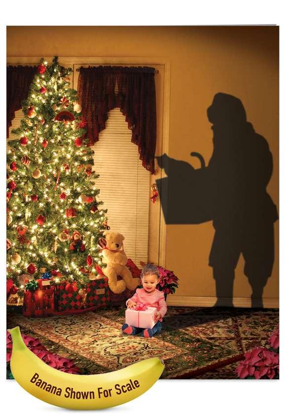 Visions of Christmas: Stylish Christmas Thank You Jumbo Paper Card