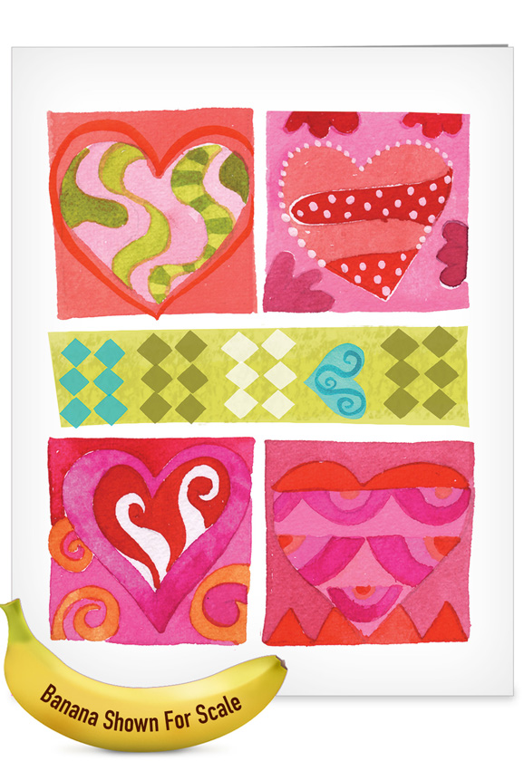 Art Hearts: Creative Mother's Day Giant Printed Card