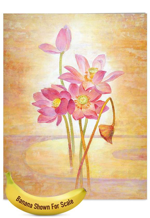 Floral Harmony: Creative Mother's Day Jumbo Paper Greeting Card
