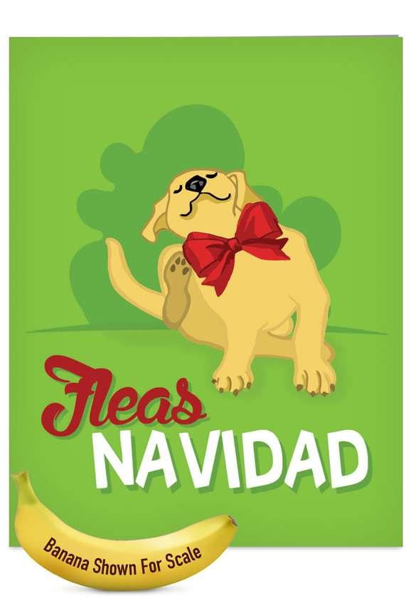 Merry Pets: Stylish Blank Jumbo Printed Card