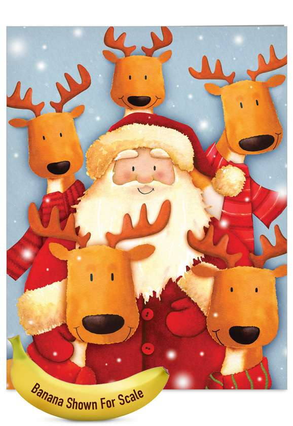 Santa Selfies: Creative Christmas Jumbo Printed Card