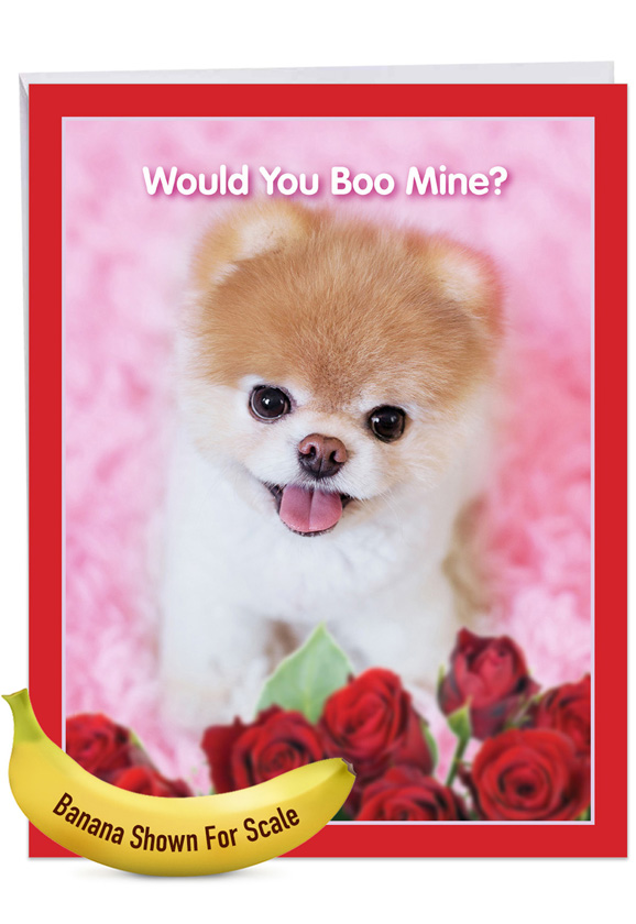 Boo My Valentine - Rose Jumbo Card