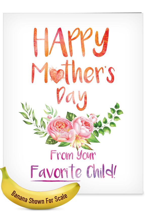 From Mom's Favorite Child: Stylish Mother's Day Big Card