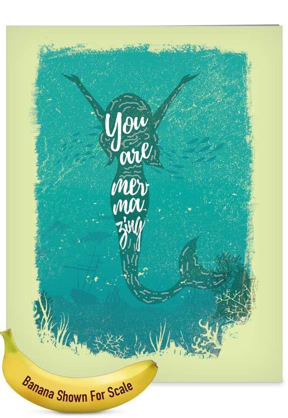 Mermaid Quotes - Mermazing: Creative Congratulations Giant Printed Card