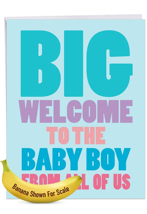 Big New Baby Boy: Hysterical Baby Jumbo Printed Greeting Card