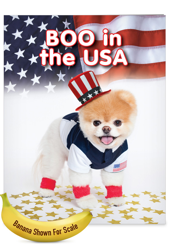 Boo In The USA: Hilarious Birthday Large Greeting Card