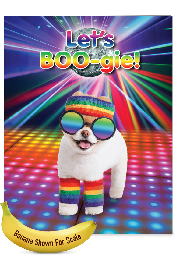 Let's Boo-gie: Humorous Birthday Extra Large Paper Card