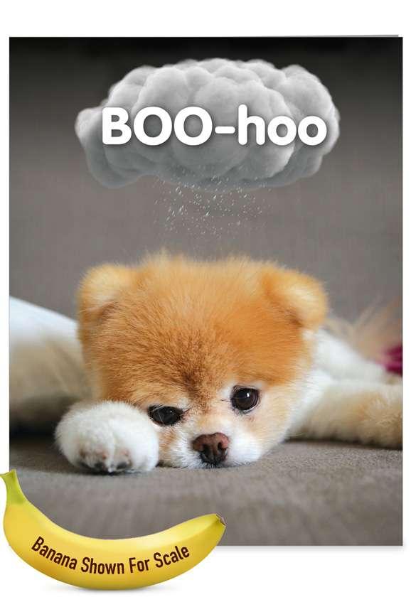 Boo-Hoo: Hysterical Miss You Giant Printed Card