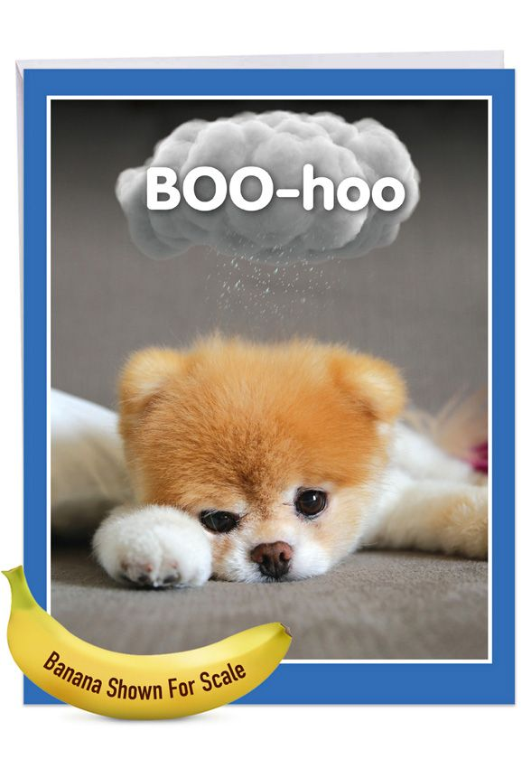 Boo-Hoo: Hilarious Miss You Large Greeting Card