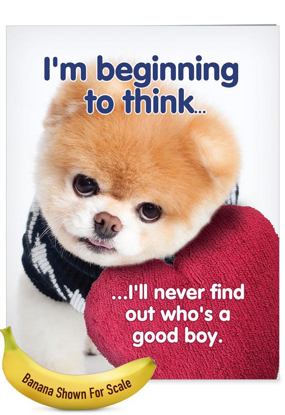 Boo's A Good Boy Jumbo Card
