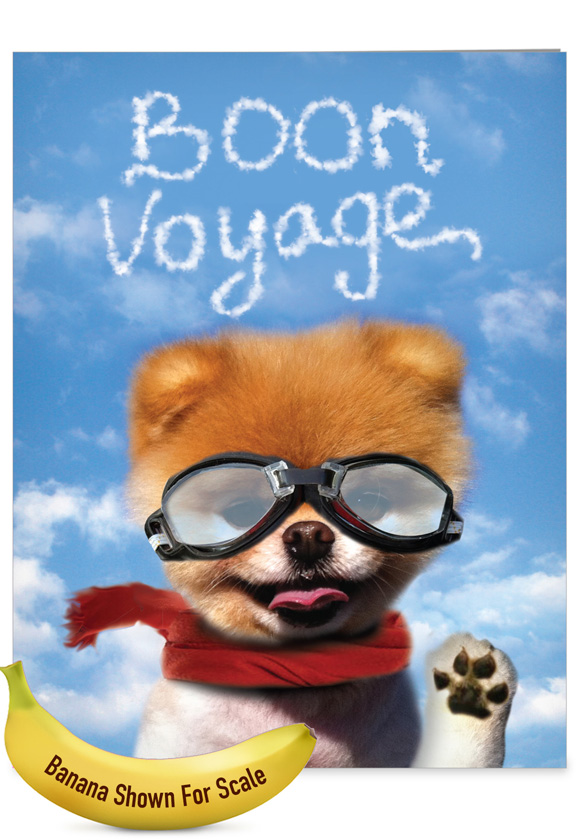 Boon Voyage: Hysterical Bon Voyage Large Greeting Card