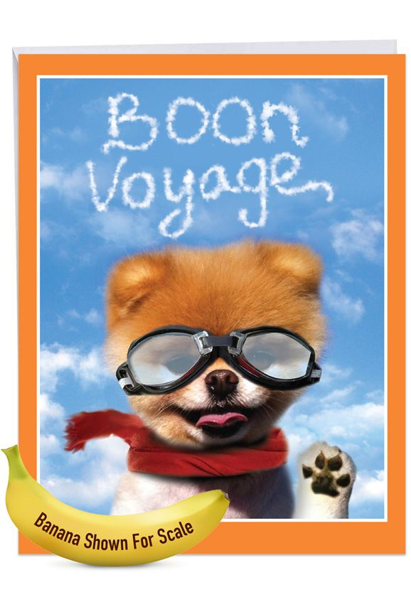 Boon Voyage: Humorous Bon Voyage Extra Large Paper Card