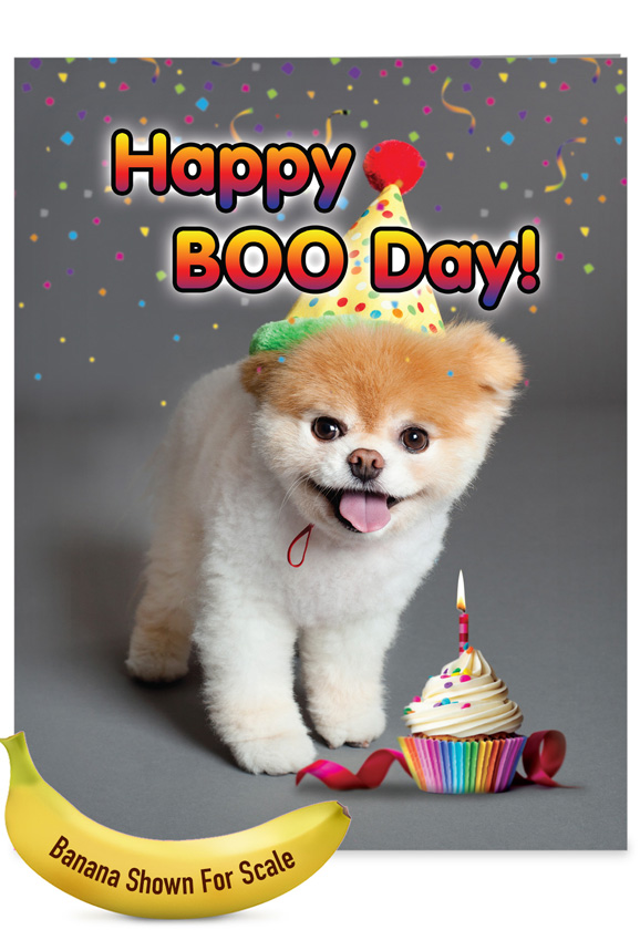 Happy Boo-day: Funny Birthday Extra Large Paper Card