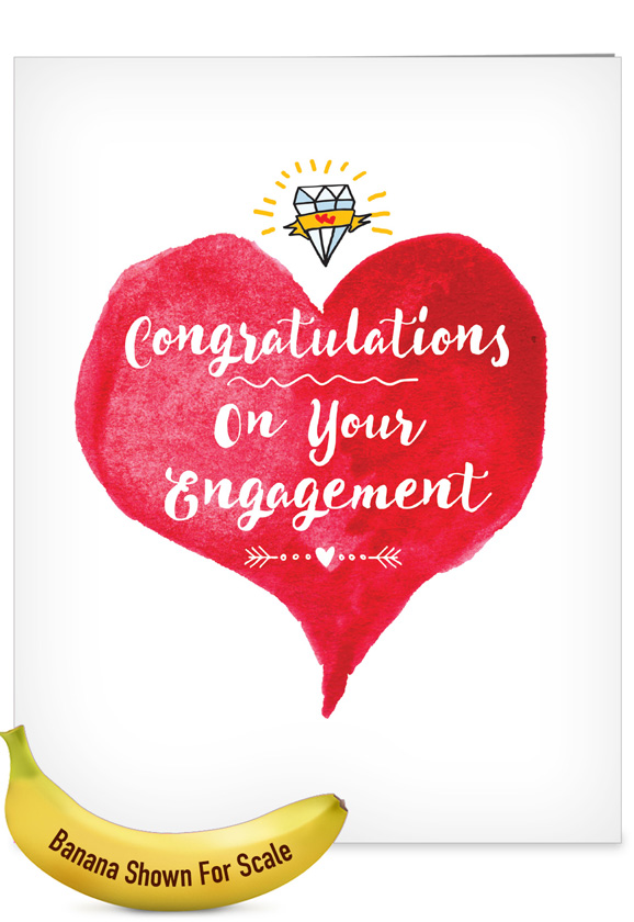 About Time: Hysterical Engagement Jumbo Printed Greeting Card