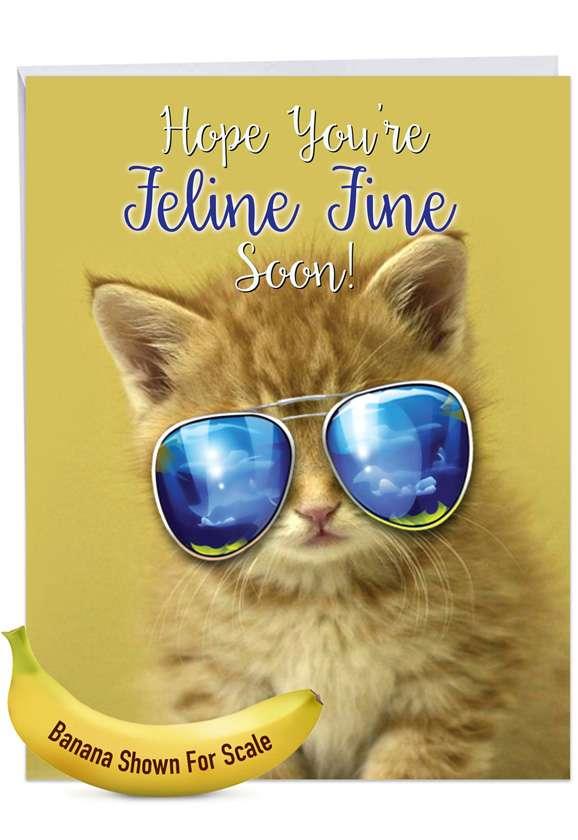 Kool Kitties - Orange: Stylish Get Well Big Card