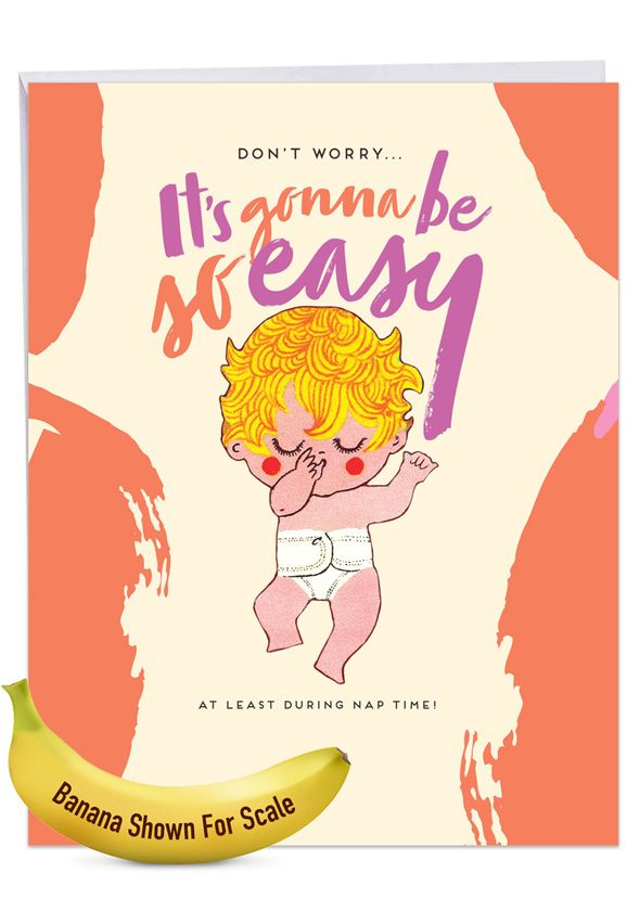 Nap Time: Funny Baby Over-sized Paper Greeting Card