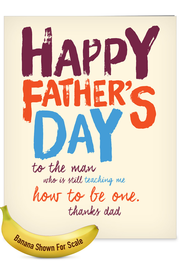 Dad Teacher: Hysterical Father's Day Jumbo Printed Greeting Card