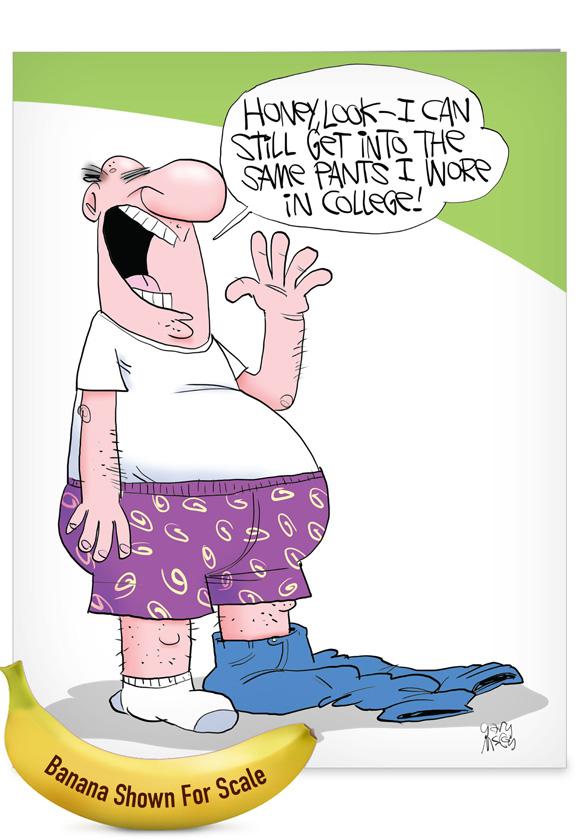 College Pants: Hilarious Birthday Jumbo Printed Greeting Card