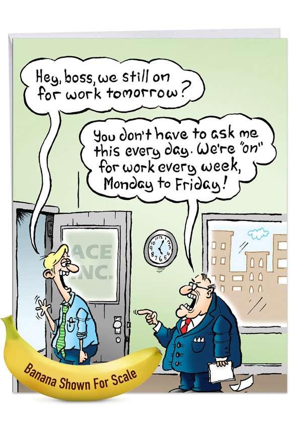 On for Tomorrow: Funny New Job Big Card