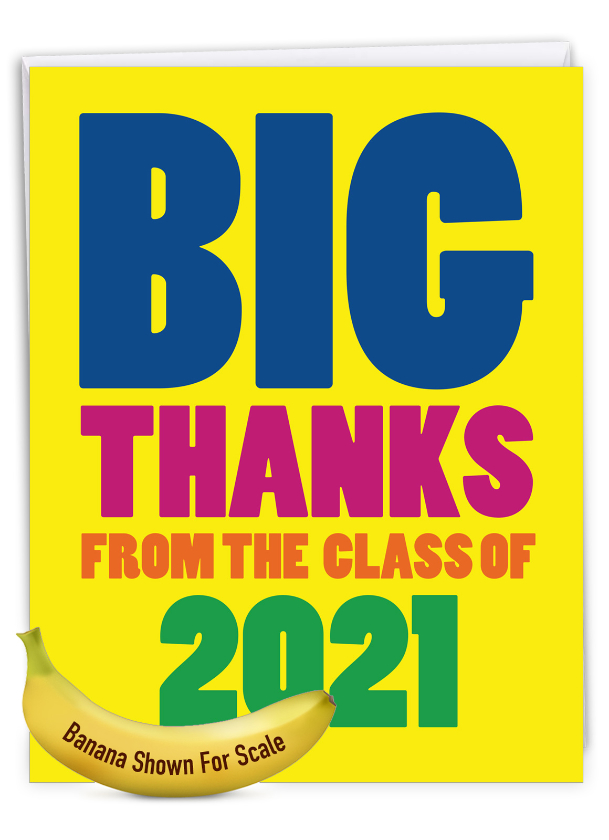 Thanks From The Class Year: Stylish Thank You Giant Printed Card