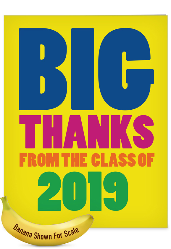 Thanks From The Class Year Jumbo Card