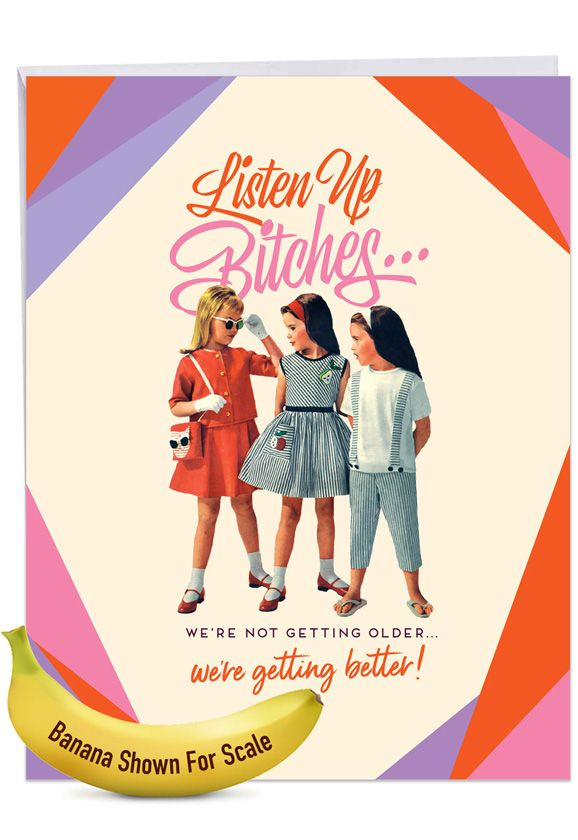 Listen Up: Funny Birthday Extra Large Paper Card
