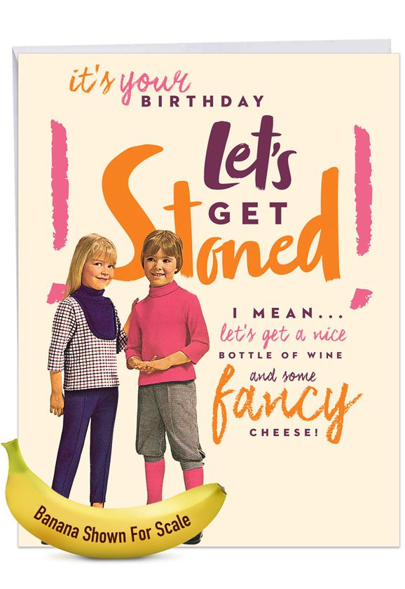 Let's Get Stoned: Hilarious Birthday Giant Printed Card