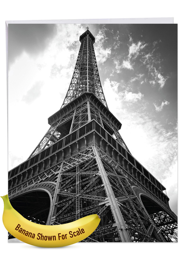 Towering Paris: Creative Thank You Giant Printed Card