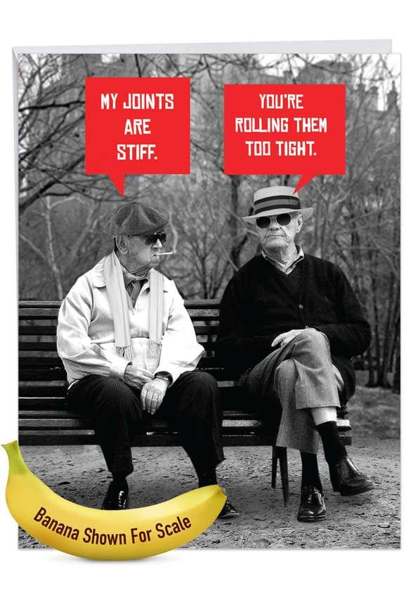 Men Stiff Joints: Hilarious Birthday Large Greeting Card