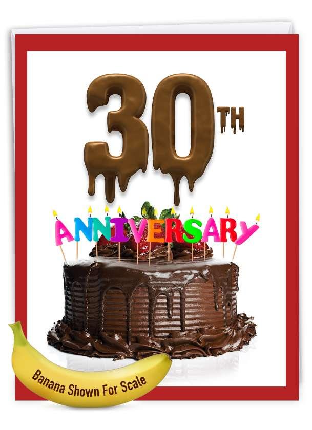 Big Day 30: Stylish Milestone Anniversary Over-sized Paper Greeting Card