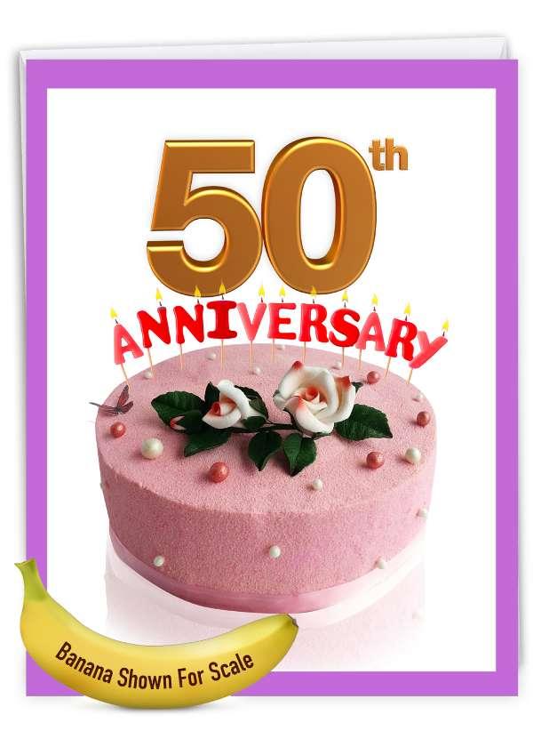 Big Day 50: Stylish Milestone Anniversary Big Card