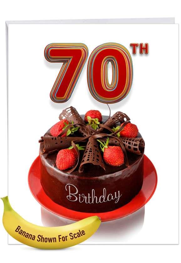 Big Day 70: Stylish Milestone Birthday Big Card