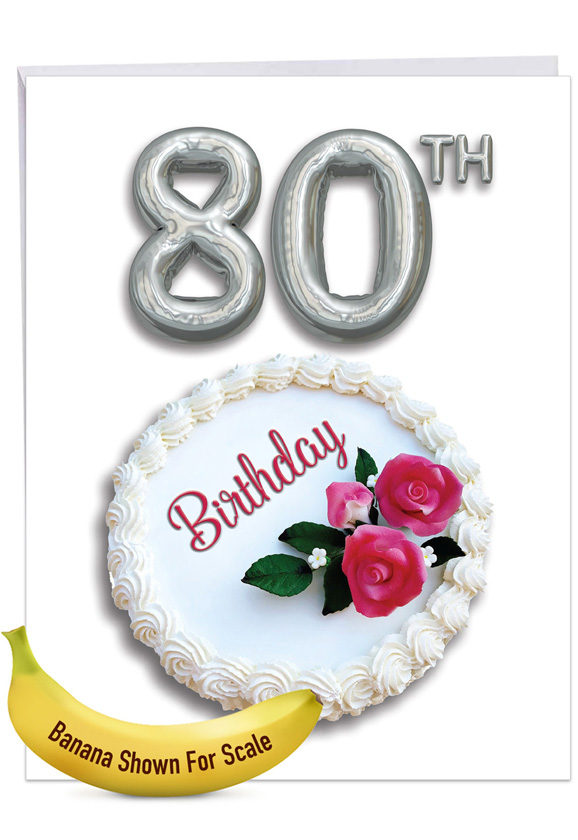 Big Day 80: Creative Milestone Birthday Large Greeting Card