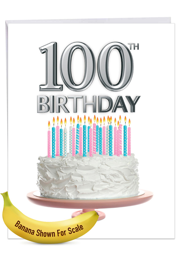 Big Day 100: Creative Milestone Birthday Giant Printed Card