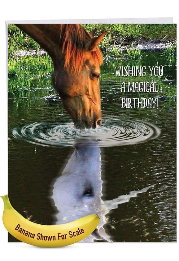 Aspirations - Horse: Stylish Birthday Extra Large Paper Card