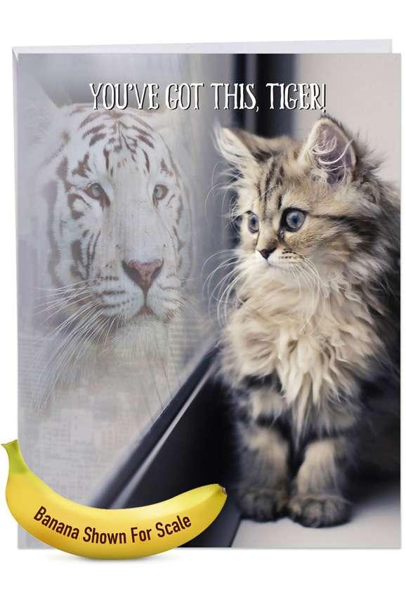 Aspirations - Cat: Creative Friendship Giant Printed Card