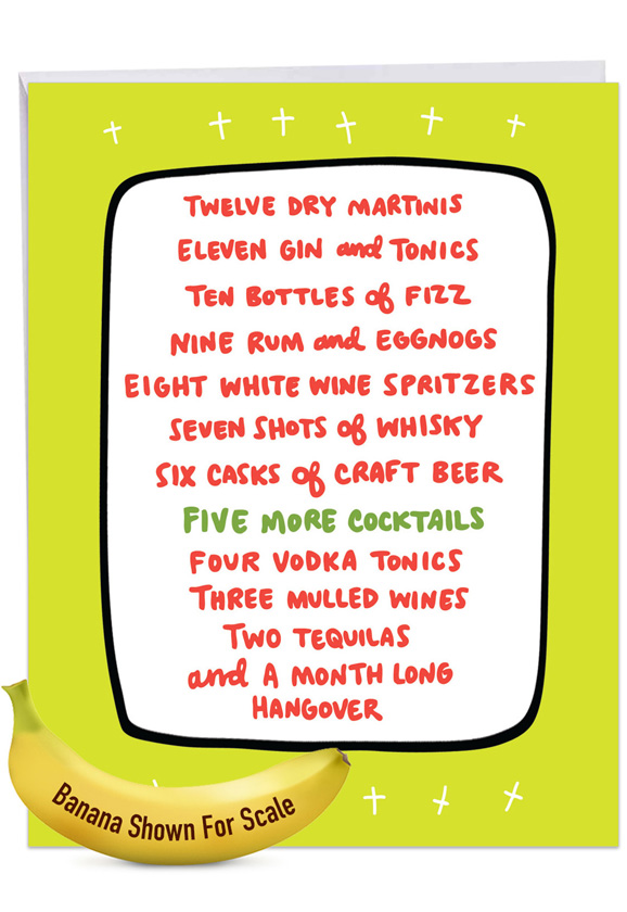 Twelve Days of Drinking: Hysterical Merry Christmas Giant Printed Card