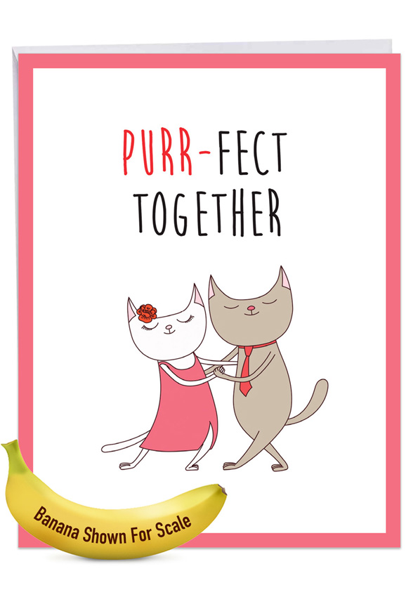 Cat Got Your Tongue - Purr-Fect Together: Stylish Anniversary Big Card