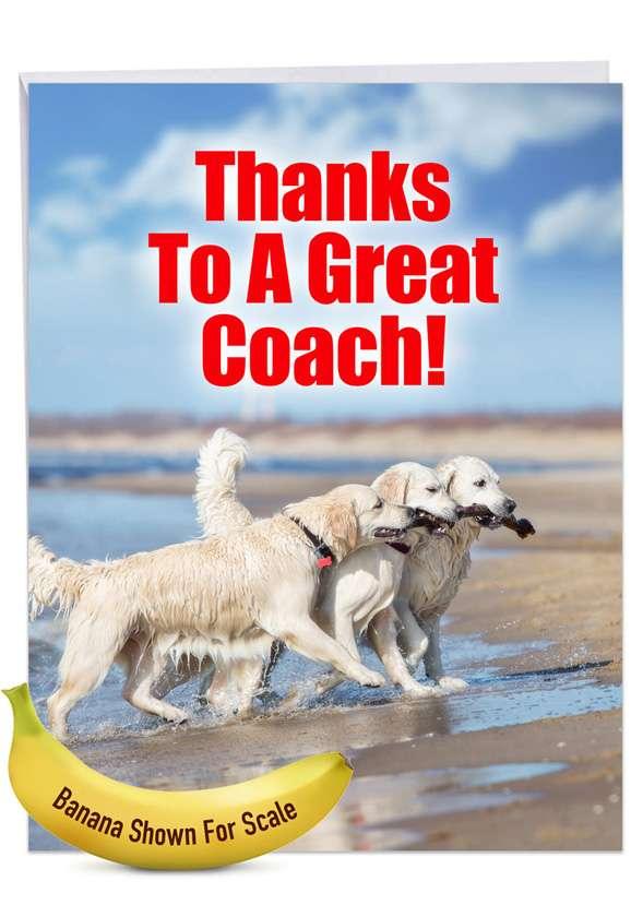 Dog Team Jumbo Card