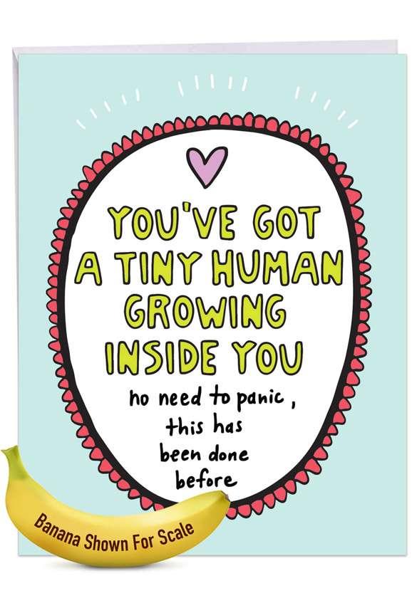 Tiny Human: Hilarious Baby Jumbo Printed Greeting Card