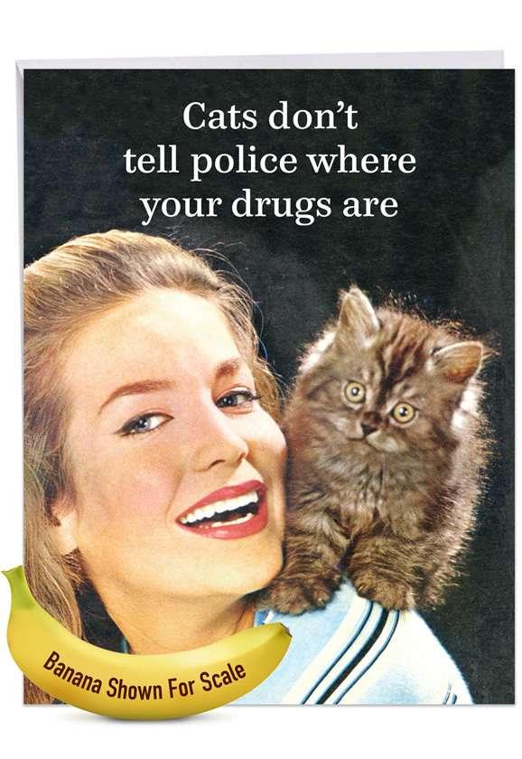 Mum Cats: Hilarious Birthday Giant Printed Card