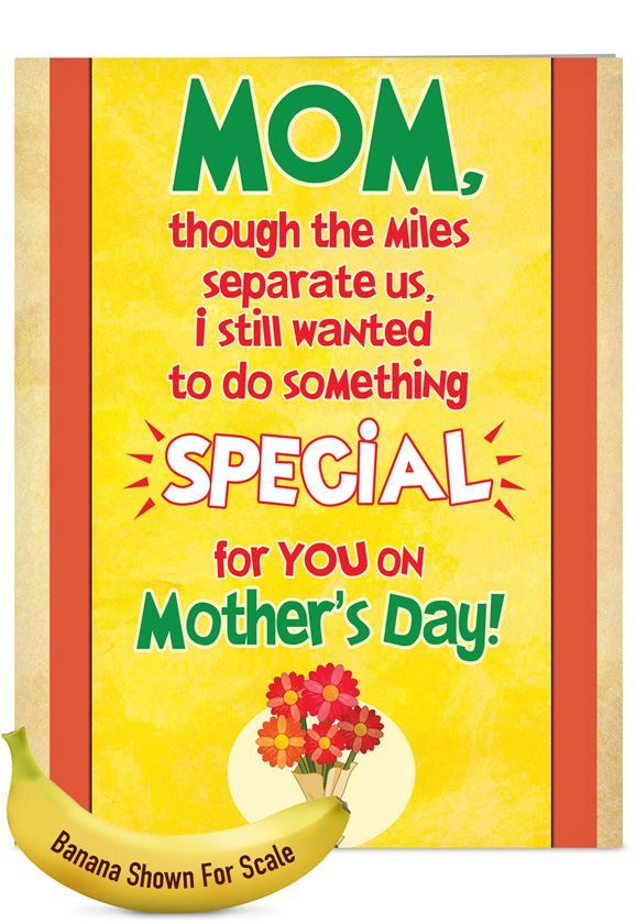 Cleaned My Room: Funny Mother's Day Jumbo Greeting Card