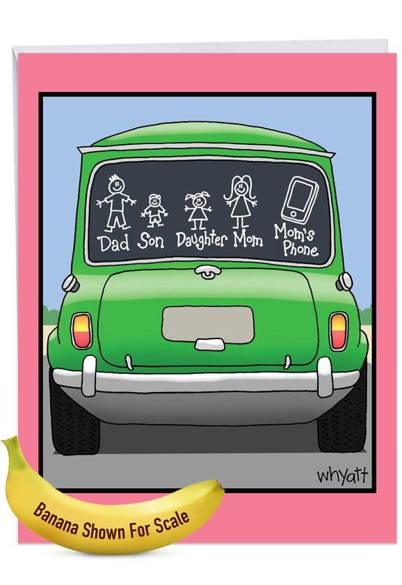 Mom's Phone: Funny Mother's Day Big Card