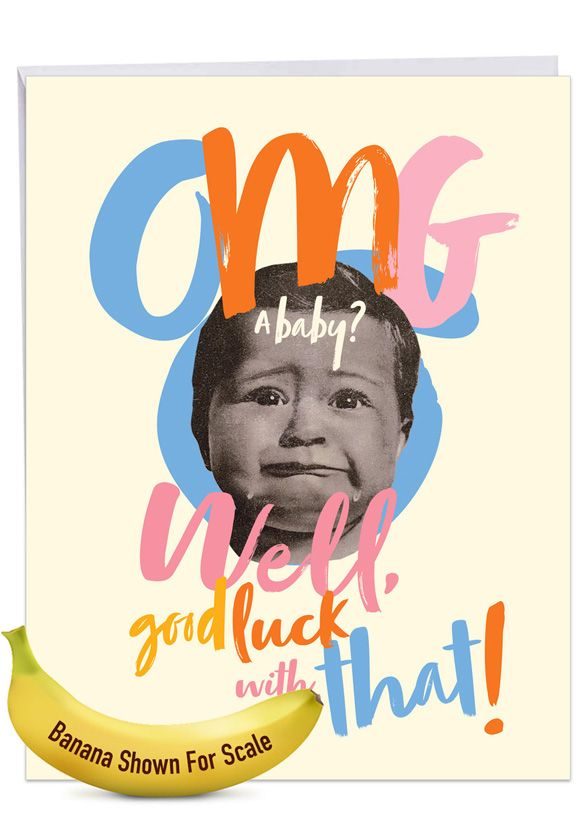OMG A Baby: Hysterical Baby Giant Printed Card