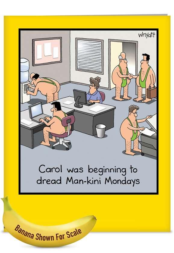 Man-kini: Hilarious Blank Jumbo Paper Card