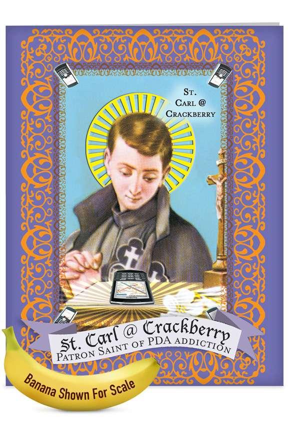 St Carl: Hilarious Graduation Jumbo Printed Card