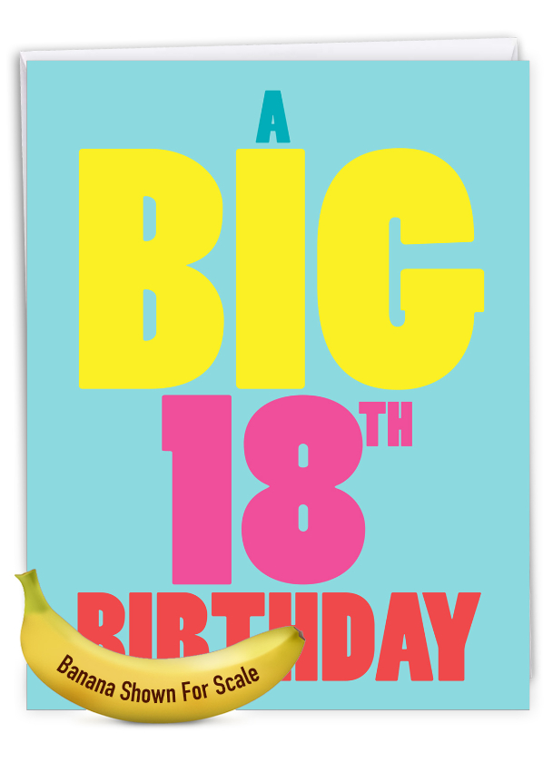 Big 18: Funny Milestone Birthday Extra Large Paper Card