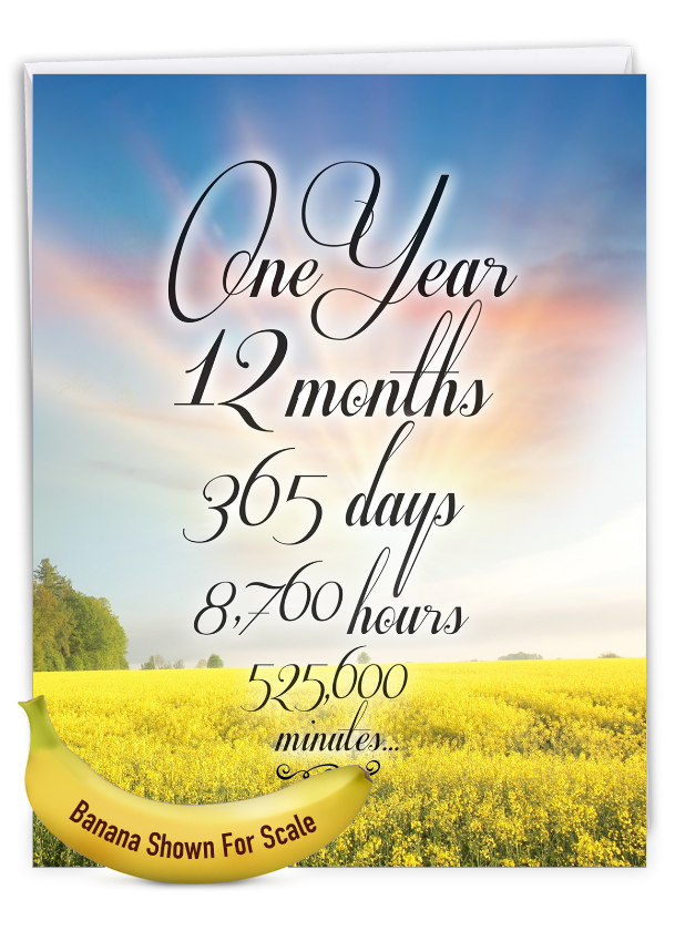 1 Year Time Count: Creative Recovery Giant Printed Card